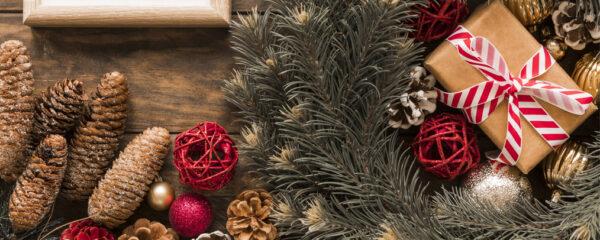 Plantes artificielles décorations de Noël